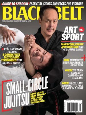 Leon Jay Black Belt magazine cover