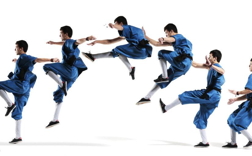 Wushu kungfu jumping front kick