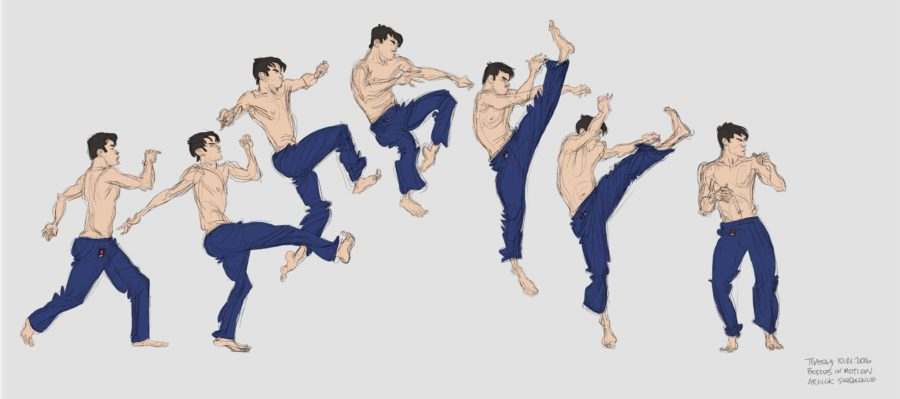 Karate Gesture Study from Bodies in Motion