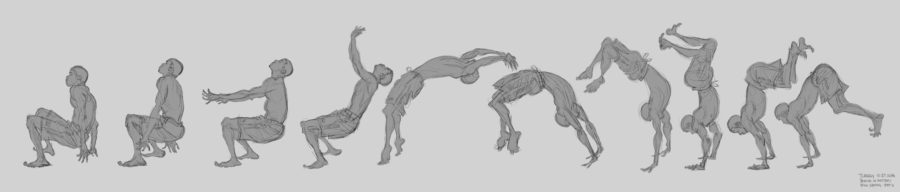 Tom Gately - Gesture studies from Bodies in Motion