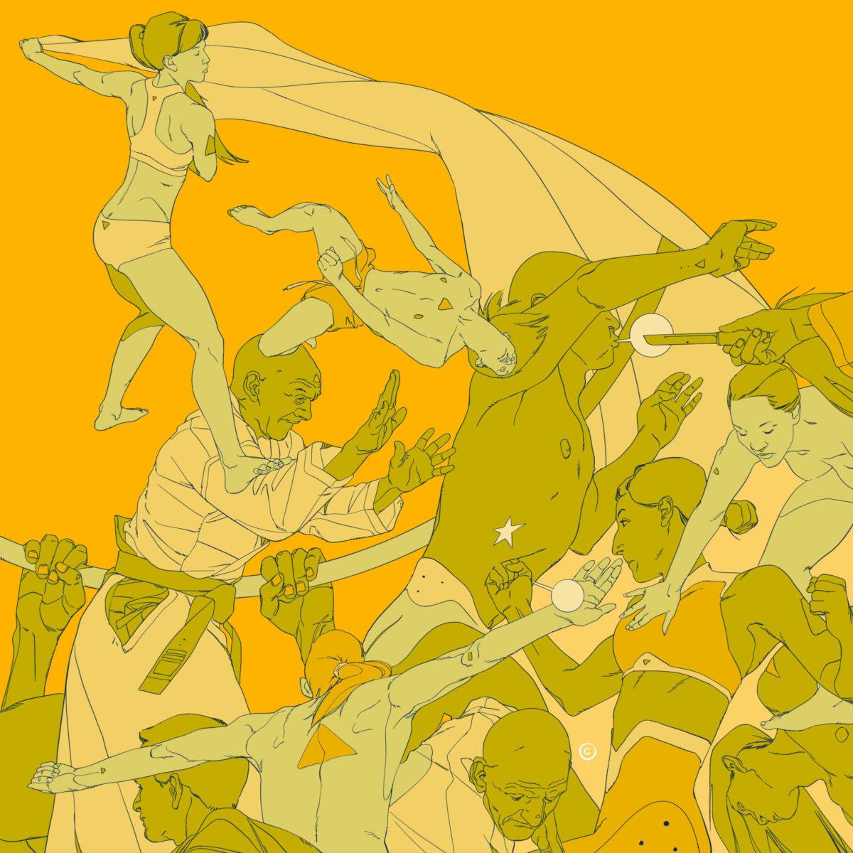 Calum Alexander Watt - Study for Bodies in Motion
