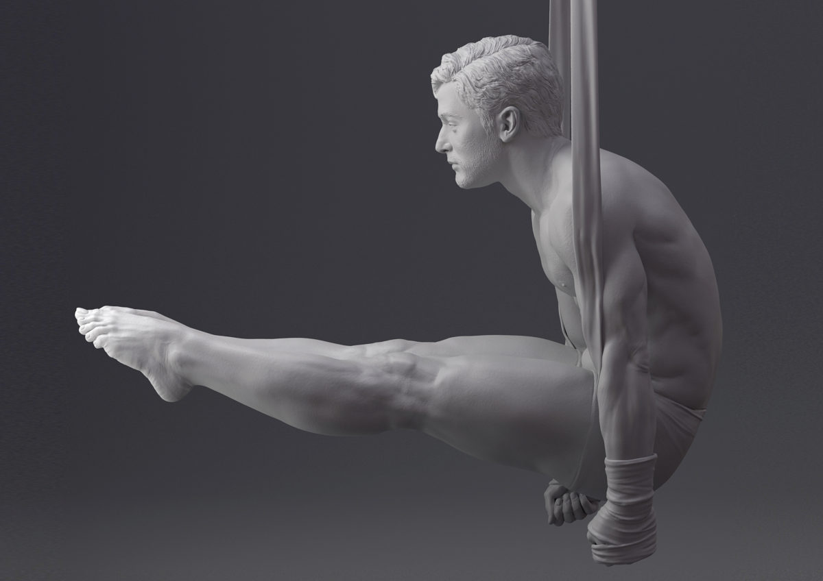 Best of Bodies in Motion Artwork - 3d sculpt by Paloma Alperi